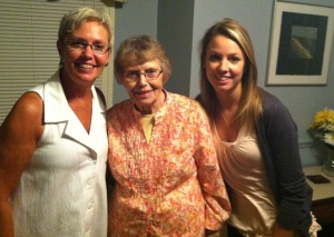 Mom, Nana, and Me. On Nana's 90th. Did I mention mom taught me to age well?