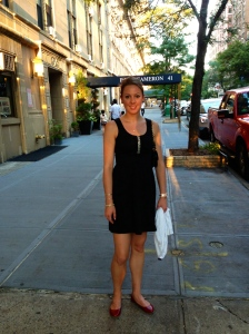 My first night in NYC after a very hot move!