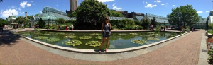 This was yesterday, celebrating my New York-iversary at the Brooklyn Botanic Gardens
