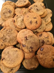 Now that is a pile of cookies! This recipe makes a LOT of cookies!